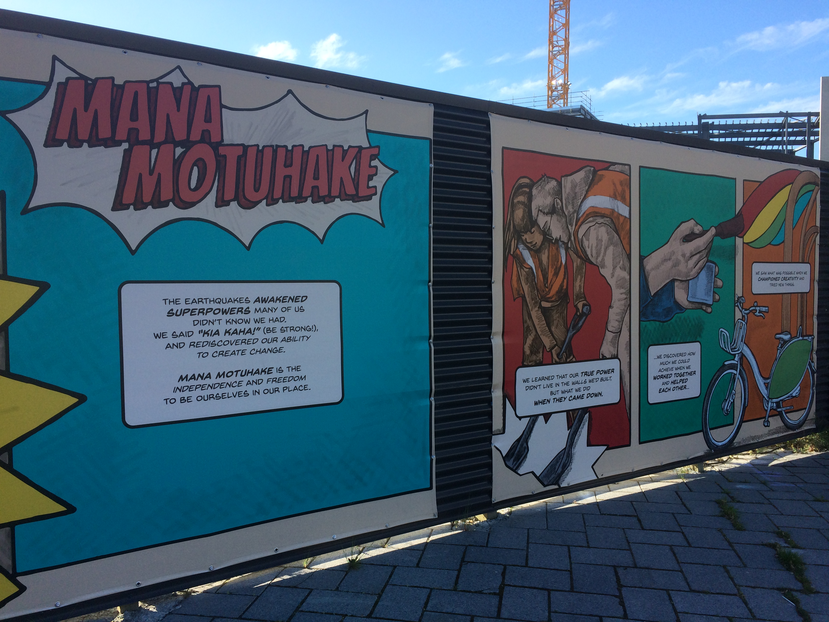 A mural in Christchurch, New Zealand -- site of a damaging earthquake in 2011